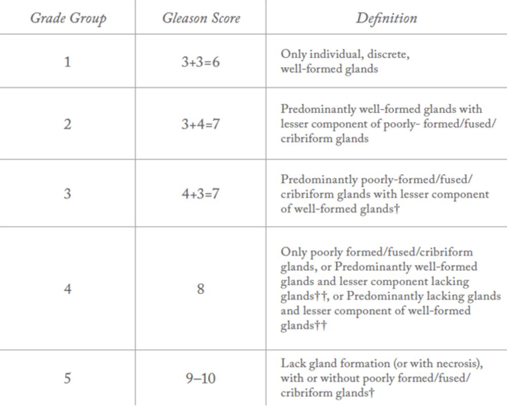 score gleason cancer prostata